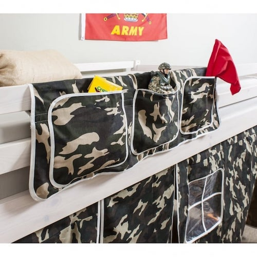 Army themed pocket bed organiser