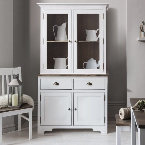 Large, white dresser storage unit
