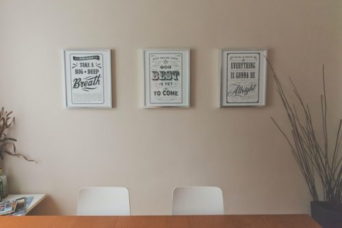 Image of 3 pieces of wall art reading inspirational quotes