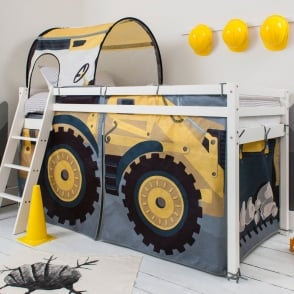 Noa and Nani Cabin Bed with Ladder and Tent in Diggers Design