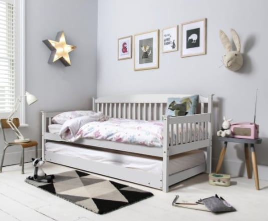 Isabella Day Bed with Pull out Trundle in White - Noa & Nani cropped
