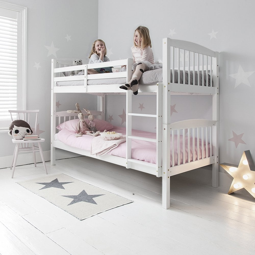 anders bunk bed with 2 single beds in white