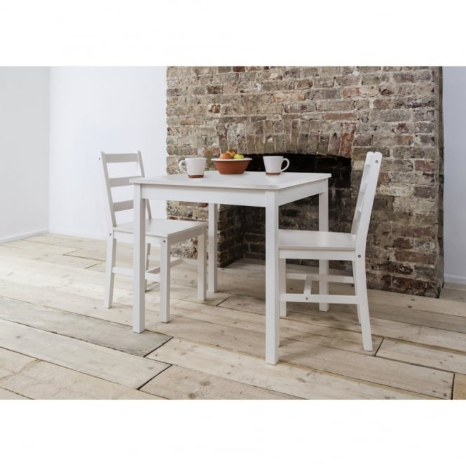 Annika Bistro Set Table with 2 Chairs White