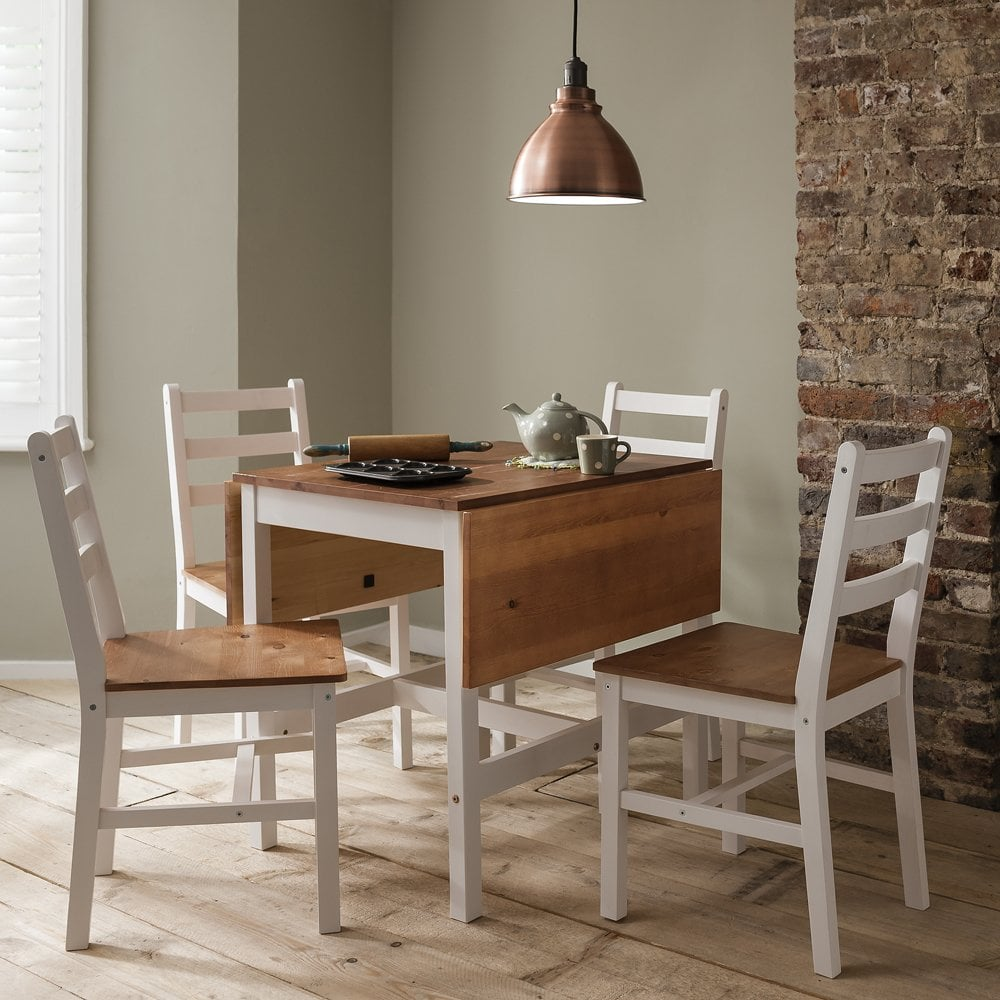 annika dropleaf dining table with 4 chairs natural - Dining Table With Two Chairs