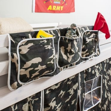 Bed Tidy in Army Design with Camouflage Bed Organiser
