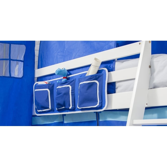 Bed Tidy in Blue with Pockets Bed Organiser
