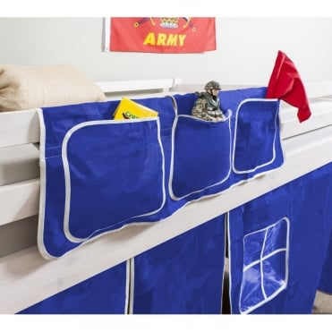 Bed Tidy in Brilliant Blue Design with Pockets Bed Organiser