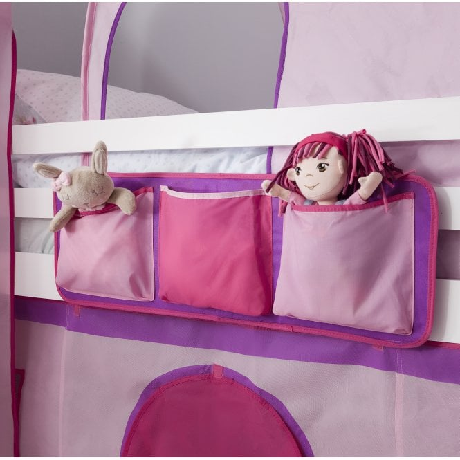 Bed Tidy in Pink Design with Pockets Bed Organiser