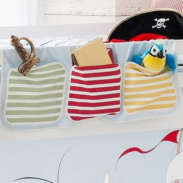 Bed Tidy in Pirate Pete Design with Pockets Bed Organiser