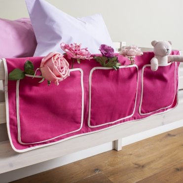 Bed Tidy in Pretty Pink Design with Pockets Bed Organiser