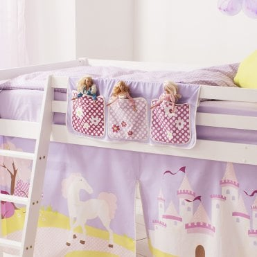 Bed Tidy in Princess Fairytale Design with Pockets Bed Organiser