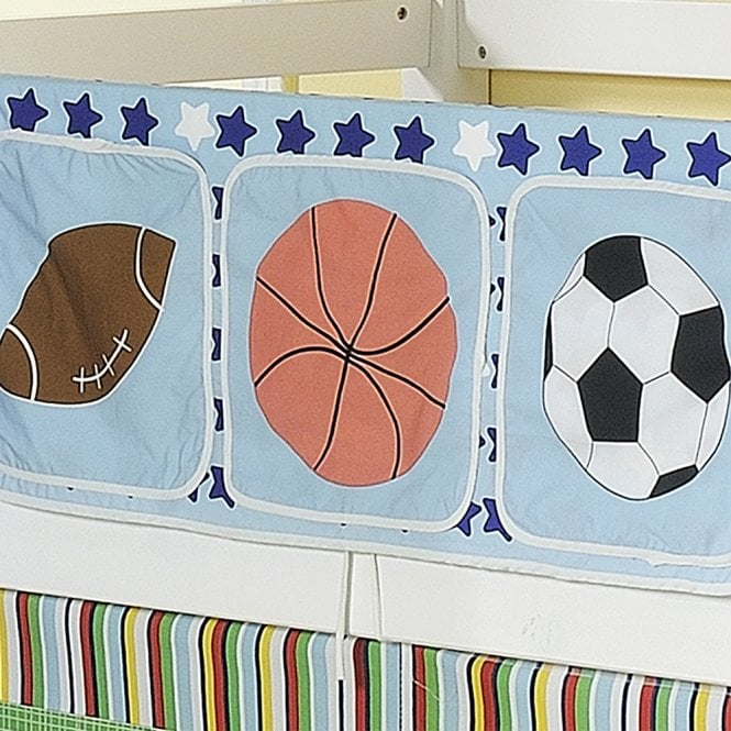 Sports Bed Tidy in Sports Design with Pockets Bed Organiser
