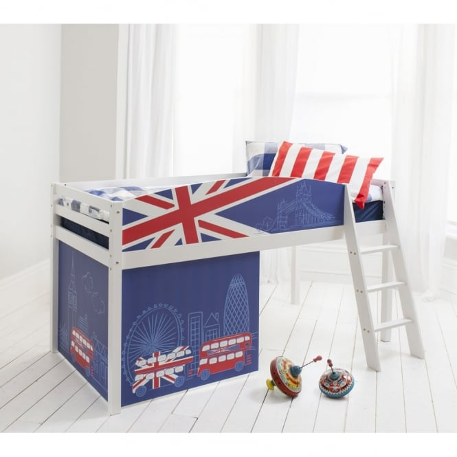 Best of British Cabin Bed with Union Jack Design Bed Boards
