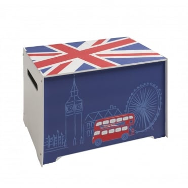 Wooden Toy Box with Union Jack design