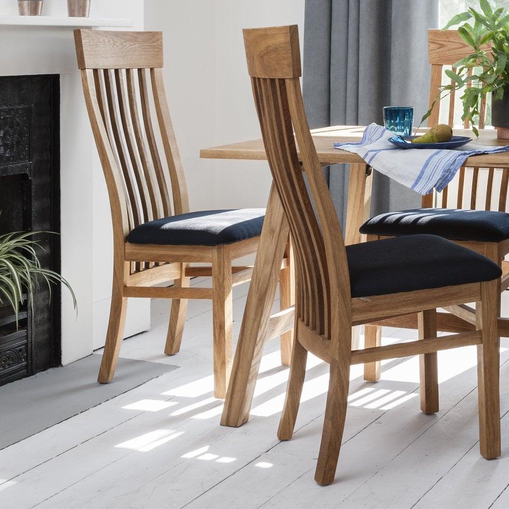 Admirable Bosham Dining Chair Solid Oak With Charcoal Fabric Upholstery Creativecarmelina Interior Chair Design Creativecarmelinacom