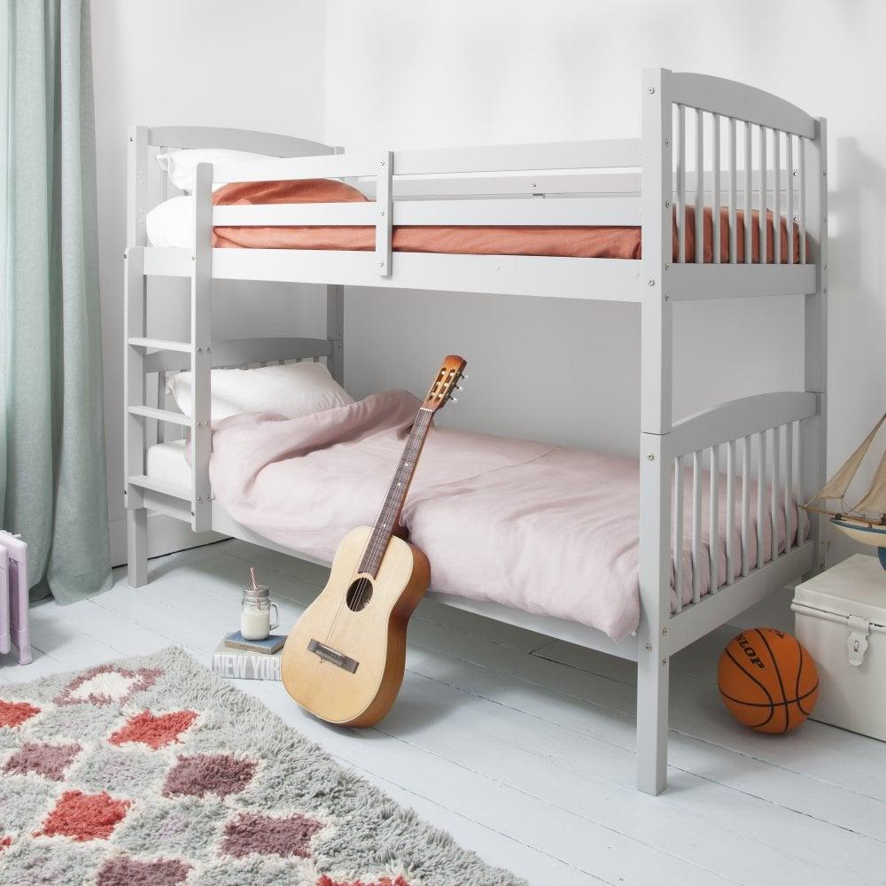Brighton Single Bunk Bed In Silk Grey Noa Nani