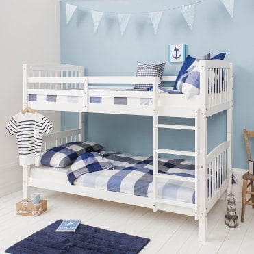 Brighton White Bunk Bed with 2 Single Beds