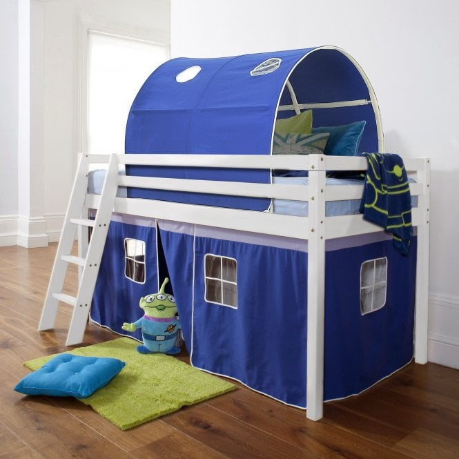 Brilliant Blue Cabin Bed with Tent & Tunnel in Blue