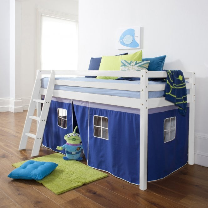 Brilliant Blue Tent for Midsleeper Cabin Bed in Blue