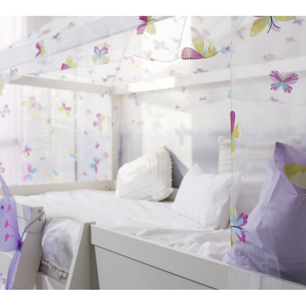 Four Poster Canopy single bed with four poster butterfly canopy | noa & nani