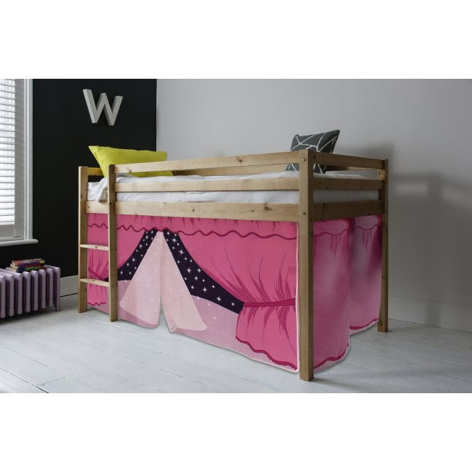 Cabin Bed Finn Straight Ladder Midsleeper with Showtime Tent