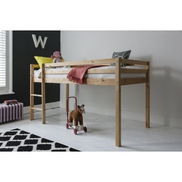 Cabin Bed Midsleeper Finn with Straight Ladder
