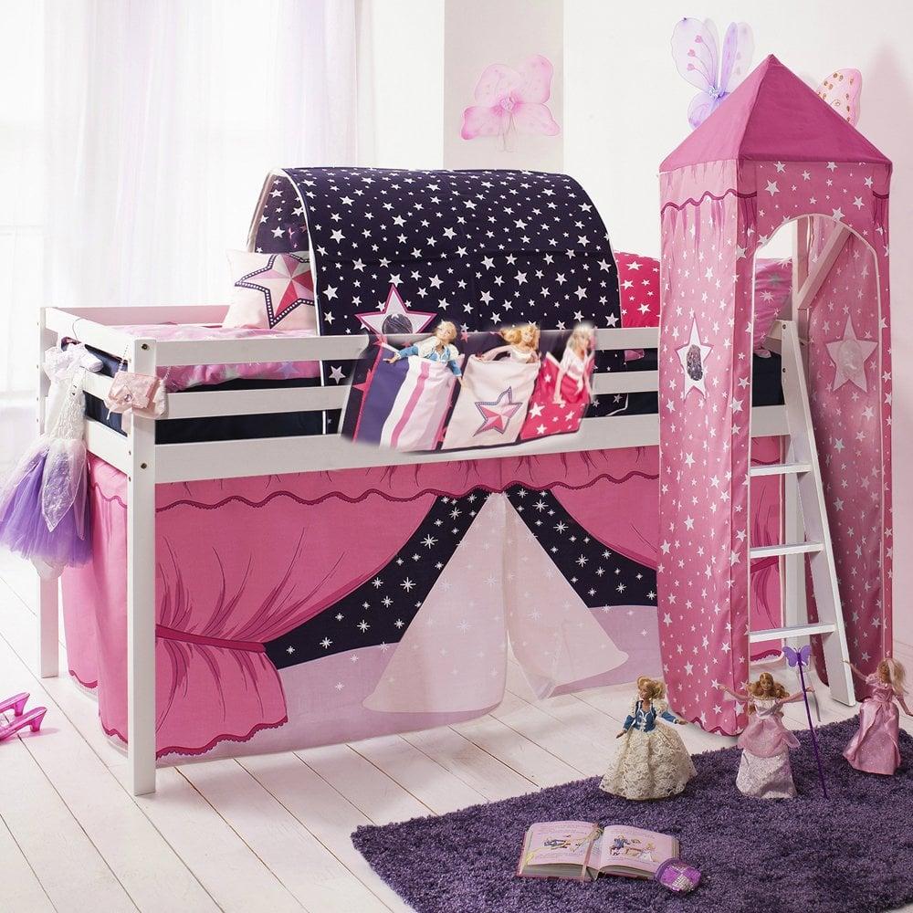 Cabin Bed Midsleeper in Showtime Design with Tent Tunnel Tower u0026&; ... & Showtime Cabin Bed with Tent Tunnel Tower u0026 Bed Tidy | Noa u0026 Nani