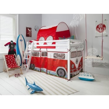 Cabin Bed Thor Midsleeper with Campervan Tent and Tunnel