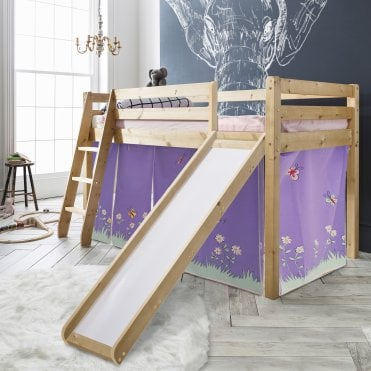 Cabin Bed Thor Midsleeper with Slide & Annabel Tent