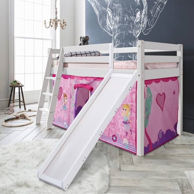 Cabin Bed Thor Midsleeper with Slide & Fairies Tent Tower & Tunnel