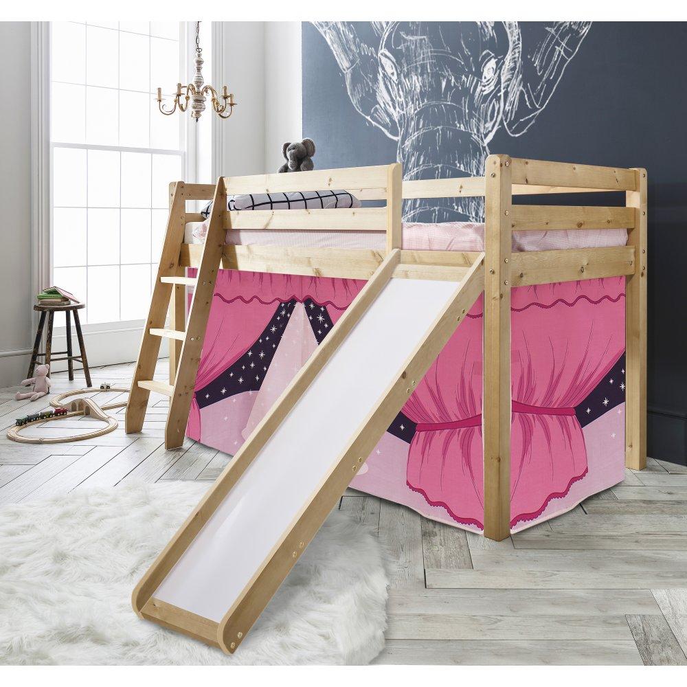 showtime cabin bed with slide tent noa nani. Black Bedroom Furniture Sets. Home Design Ideas