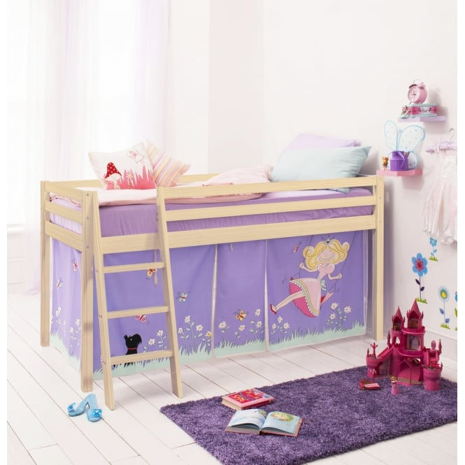 Annabel Cabin Bed with Ladder and Tent in Annabel Design