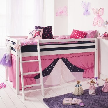 Cabin Bed with Ladder and Tent in Showtime Design