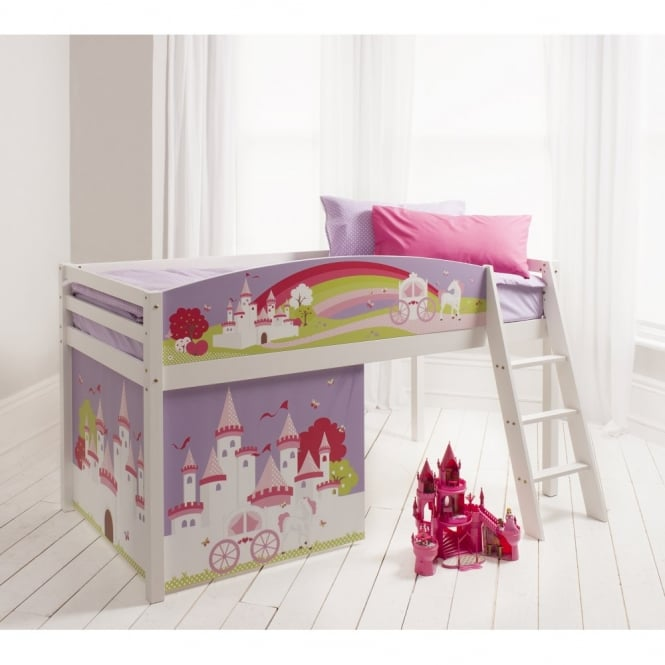 Princess Fairytale Cabin Bed with Princess Fairytale Design Bed Boards