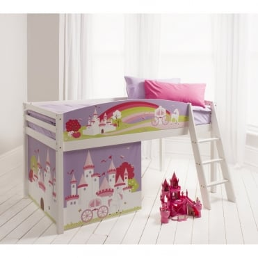 Cabin Bed with Princess Fairytale Design Bed Boards