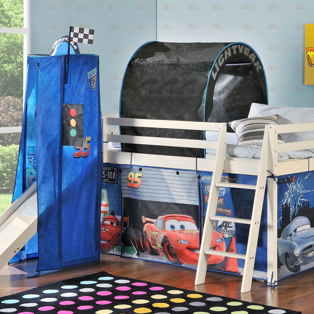 Disney Cars Cabin Bed With Slide And Tent Noa Nani