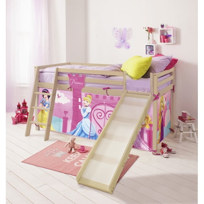 Cabin Bed with Slide and Tent in Disney Princess Design