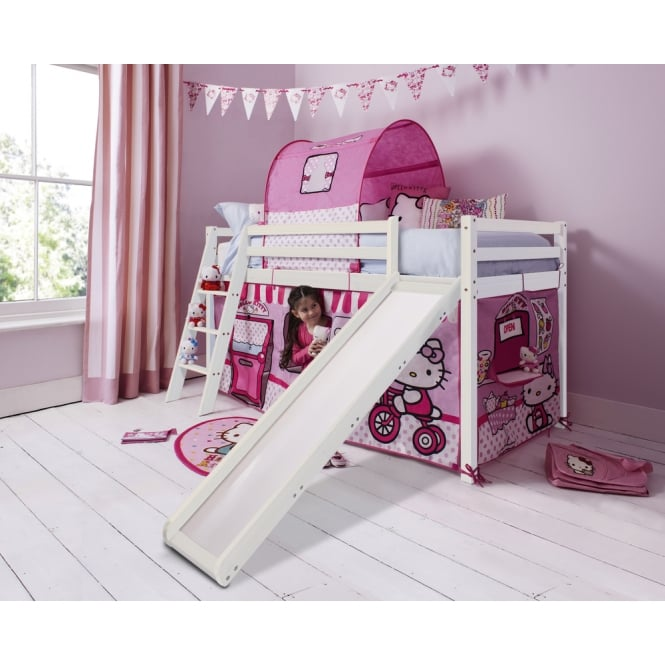 Hello Kitty Cabin Bed with Slide and Tent in Hello Kitty Design