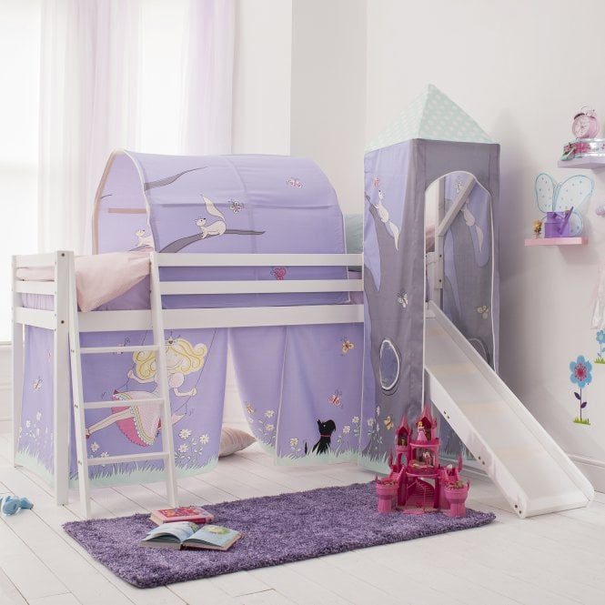Annabel Cabin Bed with Slide, Tent, Tower & Tunnel in Annabel Design