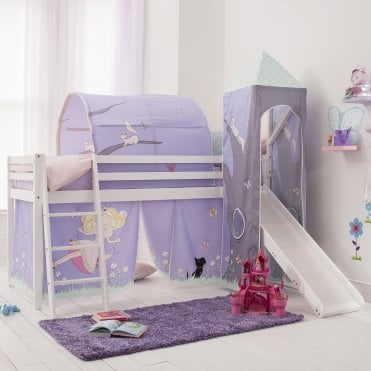 Cabin Bed with Slide, Tent, Tower & Tunnel in Annabel Design