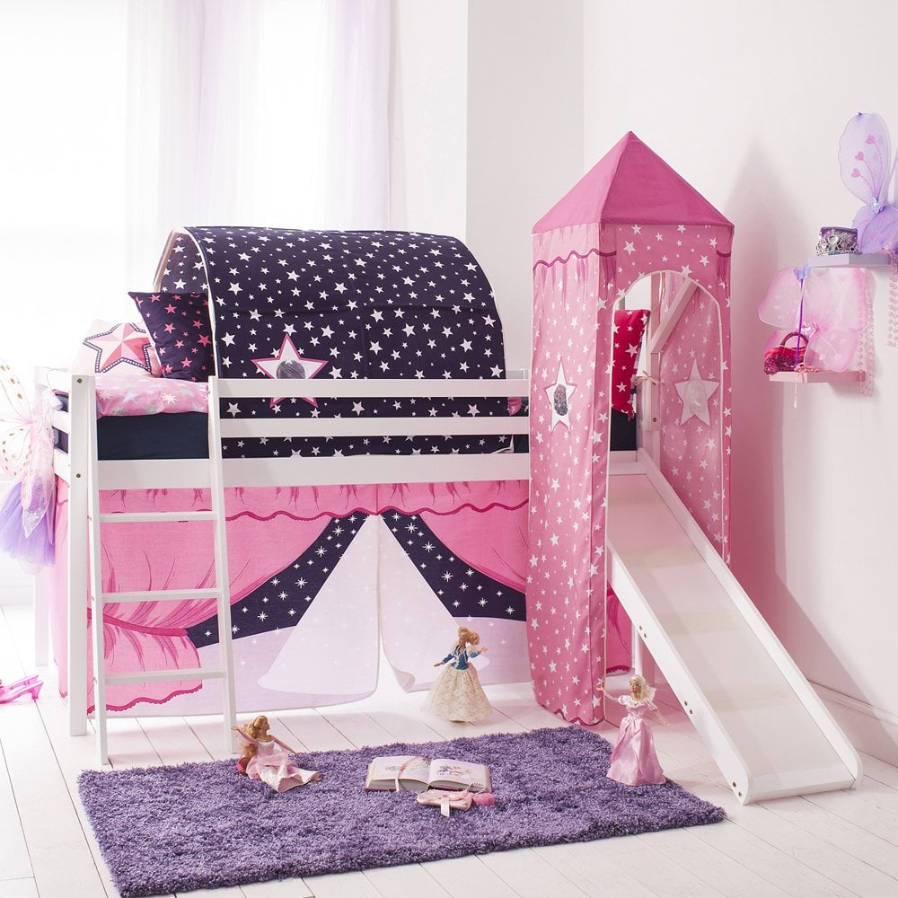 cabin bed with slide tent tower u0026 tunnel in showtime design