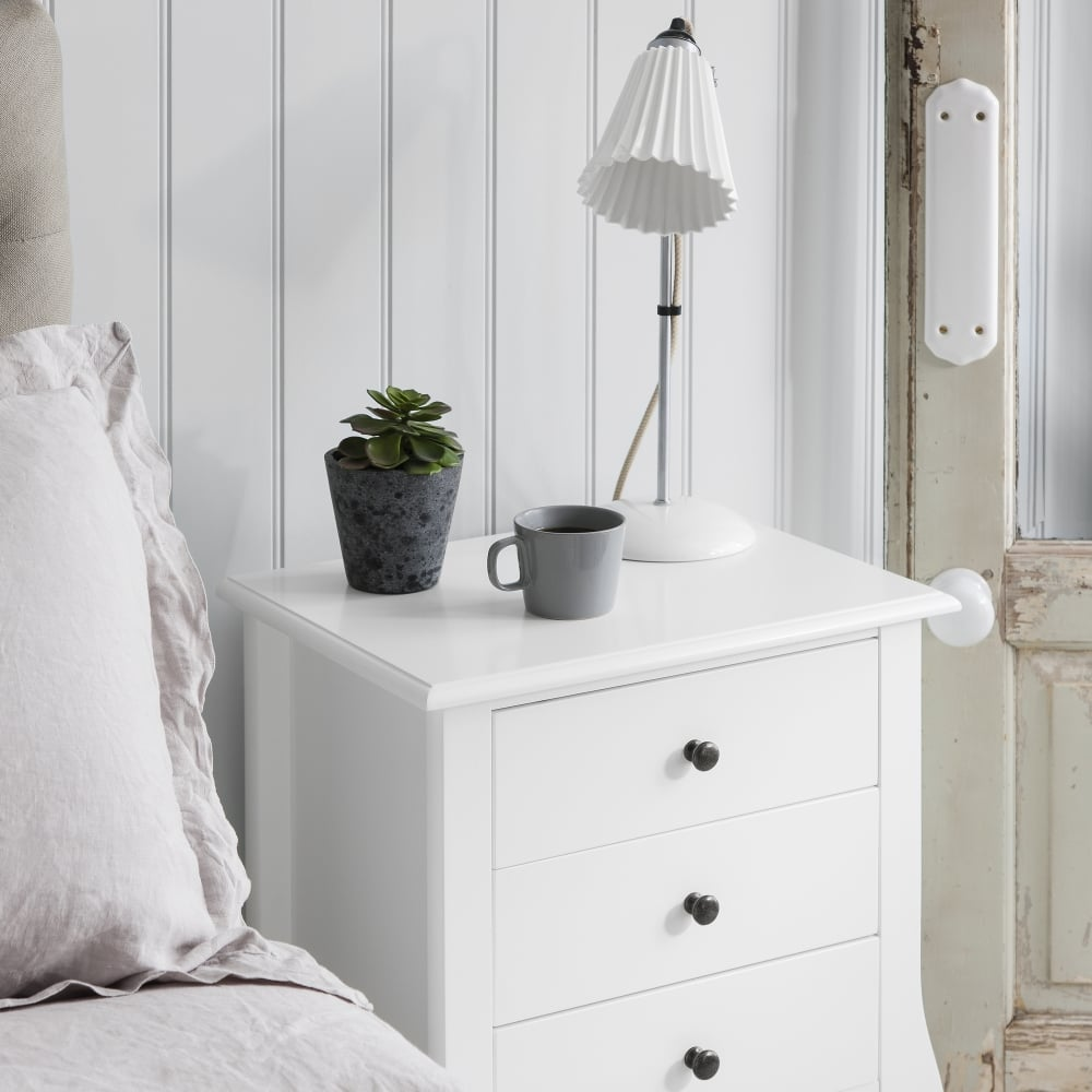 separation shoes b22a2 60a37 Camille 3 Drawer Side Table Chest in White