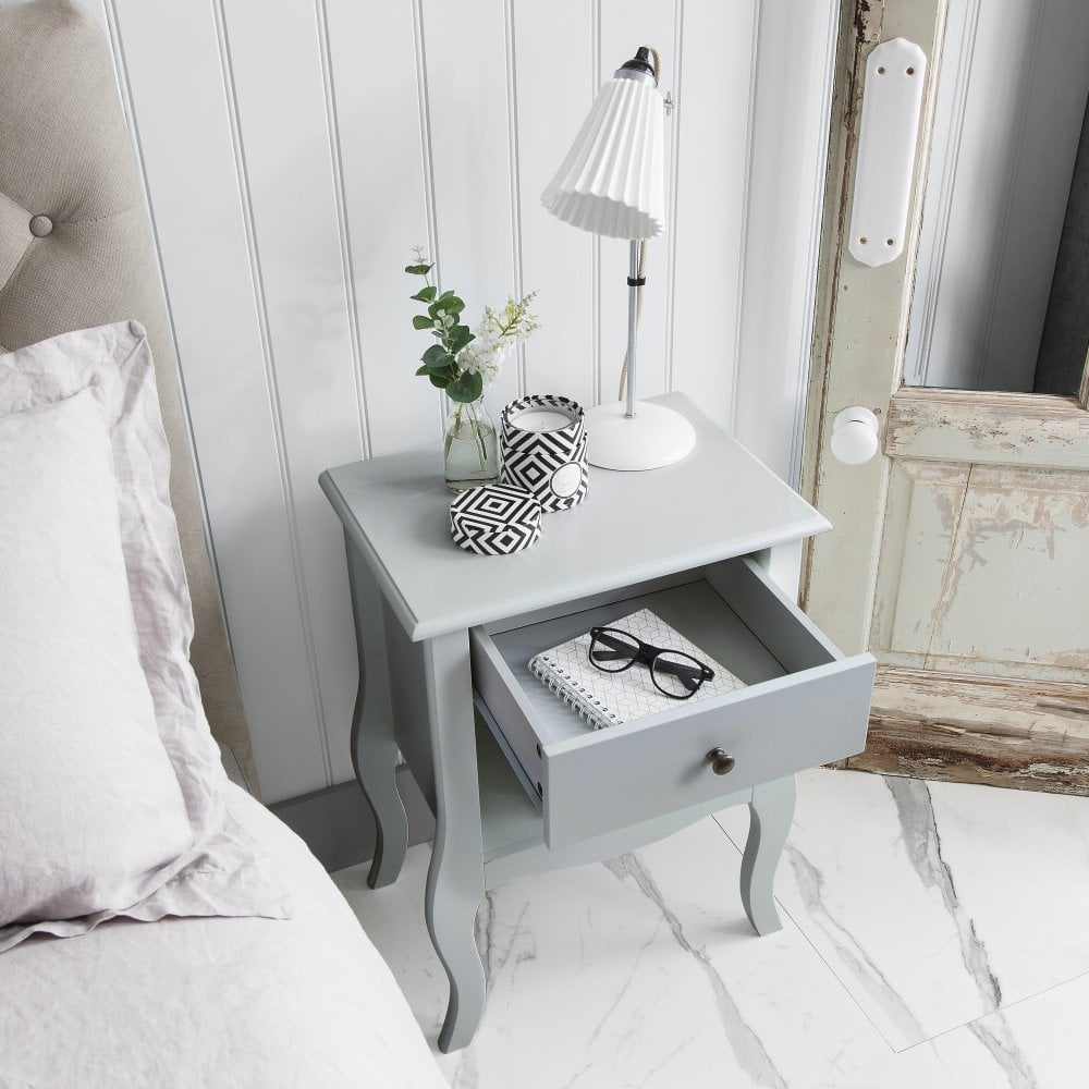 camille dressing table and stool in silk grey master. Black Bedroom Furniture Sets. Home Design Ideas