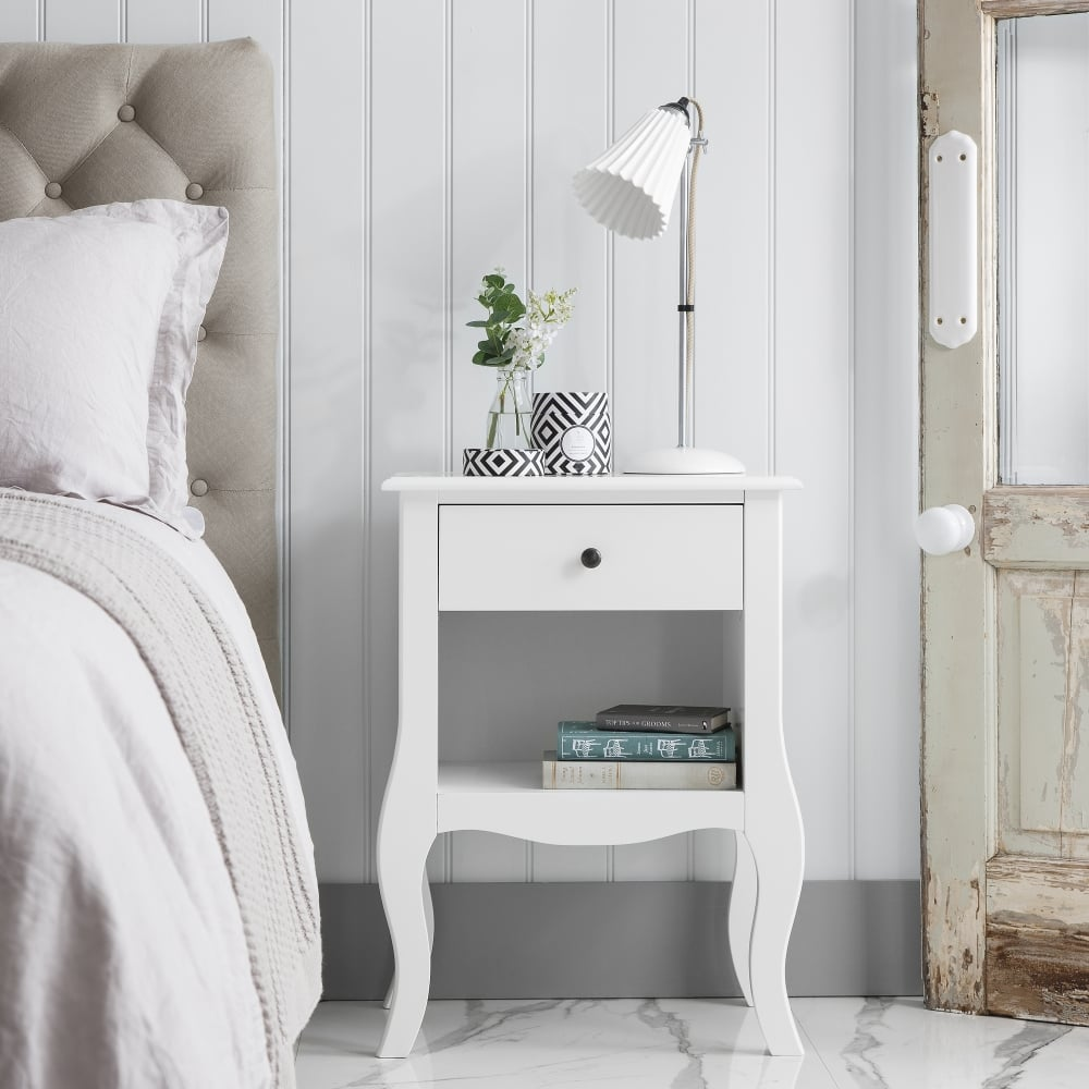 Camille Bedside Table In White Furniture From Noa And