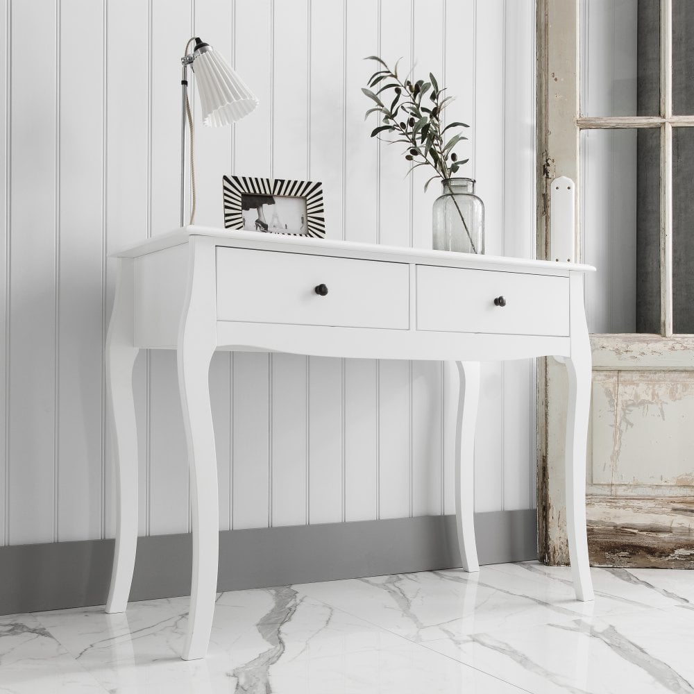 Camille Console Hallway Telephone Table In White