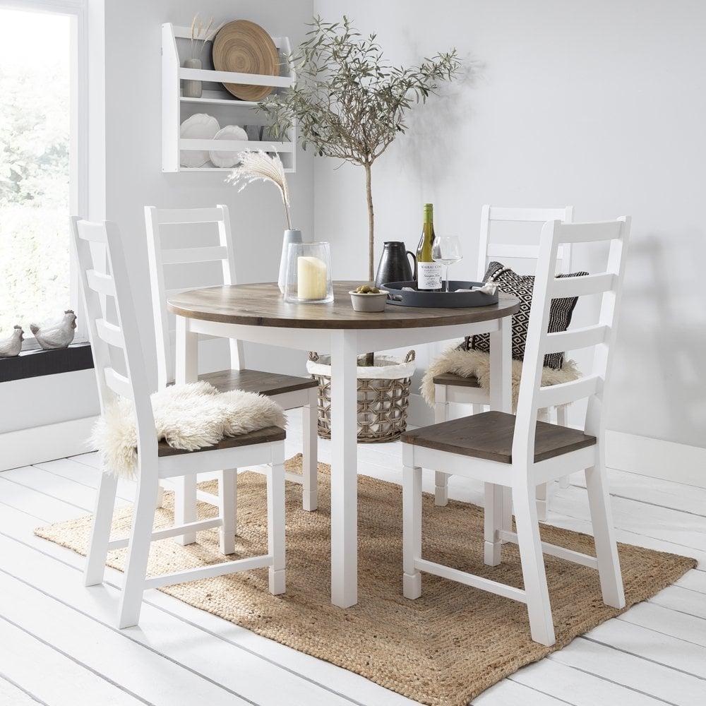 Canterbury 110cm Round Dining Table 4 Chairs Nöa Nani