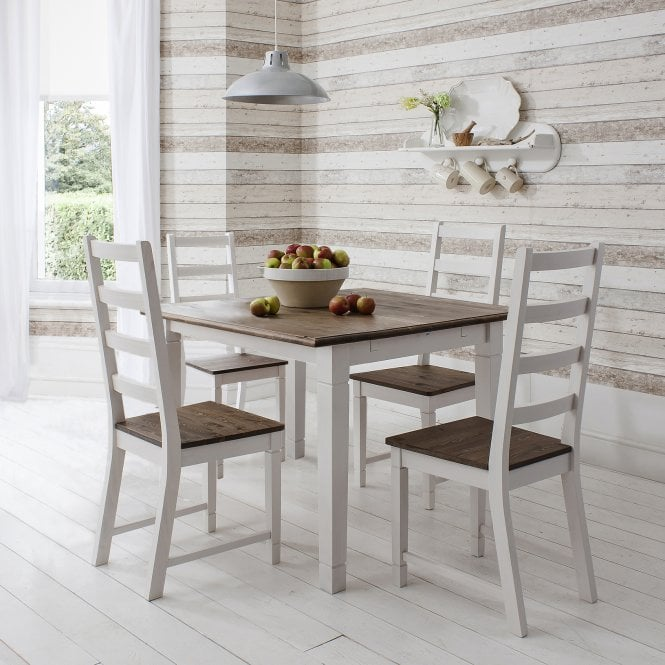 Canterbury Dining Table 85cm X 85cm With 4 Chairs Noa Amp Nani