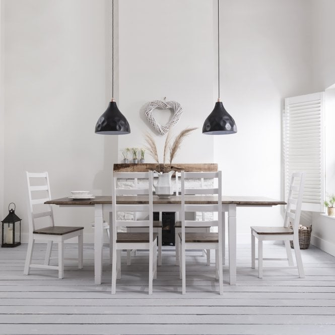 Canterbury Dining Table with 6 Chairs & 2 x Extensions
