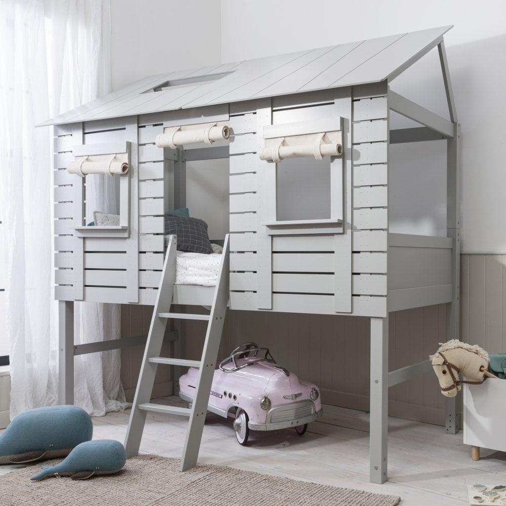 Treehouse Midsleeper Cabin Bed In Grey Noa Amp Nani