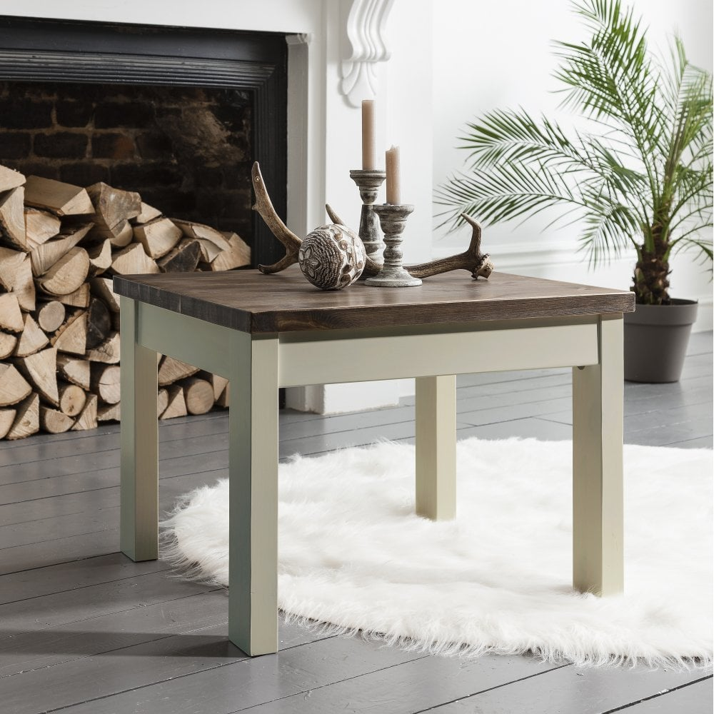 Pine Coffee Table Uk: Canterbury Coffee Table In White And Dark Pine